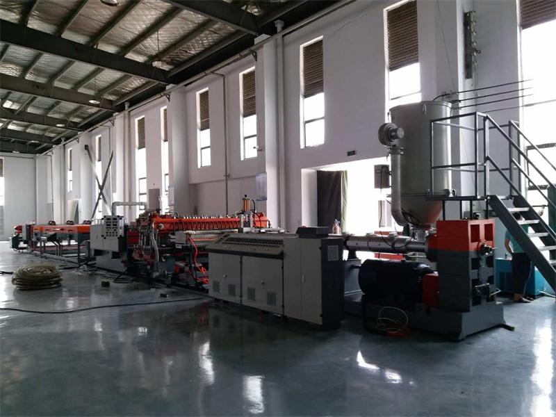 Plastic  hollow board production line