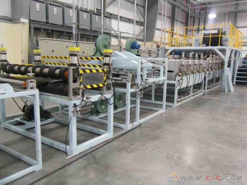 Plastic honeycomb board production line